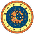 Horoscope circle Royalty Free Stock Photo