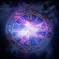 Horoscope Clock Stock Photo