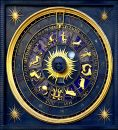 Horoscope clock Royalty Free Stock Photo