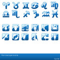 Horoscope icon set. Royalty Free Stock Images