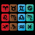 Horoscope icons.Zodiac signs characters.Symbol of Royalty Free Stock Photo