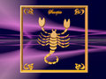 Horoscope, Scorpion Photos stock