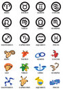 Horoscope signs Stock Photography