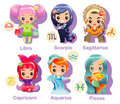Horoscope signs Icon set part 2 Royalty Free Stock Images
