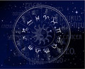 Horoscope - sky zodiac signs Royalty Free Stock Image