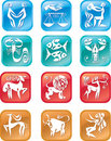 Horoscope zodiac signs Stock Photos