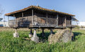 Horreo granary typical galician house in spain Stock Images