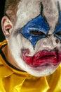 Horrible angry clown closeup