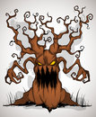 Horrible tree color a terrible monster of a with hands branches Royalty Free Stock Photo