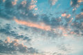 stock image of  Horror background: blue sky with rain clouds when the sun goes d