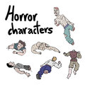 Horror character Royalty Free Stock Images