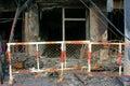 Horror fire, residence Ho Chi Minh city Royalty Free Stock Photo
