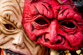 Horror mask of halloween party Royalty Free Stock Photo