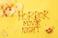 Horror movie night Royalty Free Stock Photo