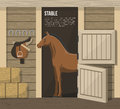 Horse Breeding Farm Stable Stall Poster
