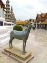 Horse bronz sculpture terrace of grand palace bangkok thailand Stock Photo