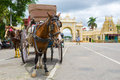 Horse buggy mysore india july th a drawn waits for passengers in front of the mysore palace in south india Stock Photography