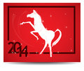 Horse and calendar red new year Stock Photography