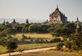 The Horse car in the plain of Bagan at sunset, Bagan, Myanmar Royalty Free Stock Photo
