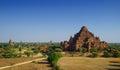 The Horse carriage at Dhammayangyi temple Bagan, Bagan, Myanmar Royalty Free Stock Photo