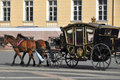 Horse carriage, Palace square, St.Petersburg Royalty Free Stock Photography