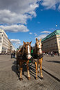 Horse carriage on the pariser square in berlin germany Royalty Free Stock Image