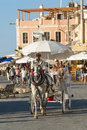 Horse carriage ride Chania Royalty Free Stock Photo