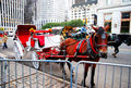 Horse carriage ride in new york city near central park Royalty Free Stock Photo