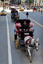 Horse and carriage rides in central park nyc oct people enjoy manhattan on oct drawn carriages are a popular way to experience the Stock Images