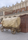 Horse cart old on market square in krakow poland Stock Photography
