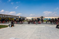 Horse carts at imam square isfahan iran march on march in isfahan iran is meters wide and meters long Royalty Free Stock Photo