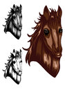 Horse color Royalty Free Stock Images