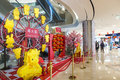 Horse decorations of chinese new year is the in china this picture shows spring festival in a mall Royalty Free Stock Image