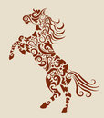 Horse decorative ornament Stock Photo
