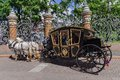 Horse drawn carriage carriage tourist transport in saint pet petersburg russia Stock Photo