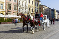 Horse-drawn carriage, Krakow Royalty Free Stock Photos