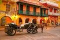 Horse drawn carriage, Plaza de los Coches, Cartagena