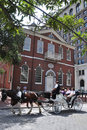 Horse drawn carriage tours in Philadelphia Royalty Free Stock Photo