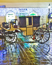 Horse driven carriage at stefansplatz in the heart of vienna austria nov famous drawm fiaker stephans dome by night on november Stock Image