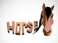 Horse face graphic outline image of illustration image Stock Images