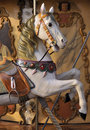 Horse on fairground carousel Royalty Free Stock Image