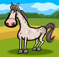 Horse farm animal cartoon illustration of cute livestock on the Stock Photo