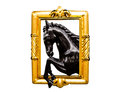 Horse And Gold Frame