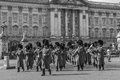 Horse Guard Musicians outside Buckingham Palace Royalty Free Stock Photo