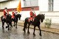 Horse guards of the fortress Alba Carolina Royalty Free Stock Photo