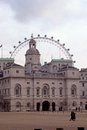 Horse Guards & the London Eye Stock Photography