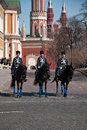 Horse guards in moscow kremlin russia Stock Image