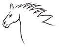 Horse head a contour image of a beautiful Royalty Free Stock Photography