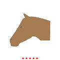 Horse head it is icon . Royalty Free Stock Photo