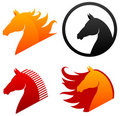 Horse head icons Stock Photos